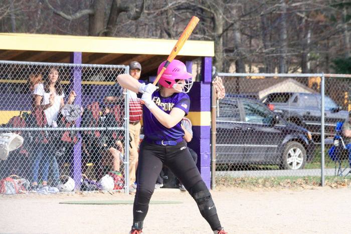 Cienna Ruggles at the plate