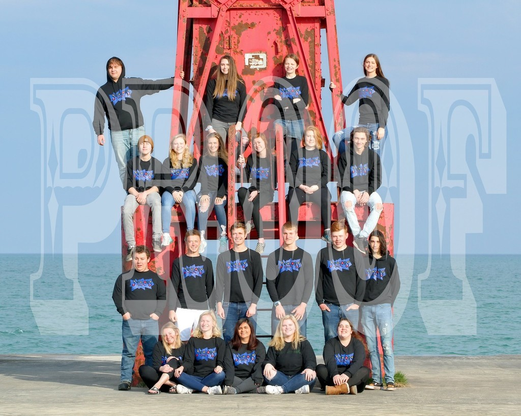 Close up picture of seniors on Pentwater pier