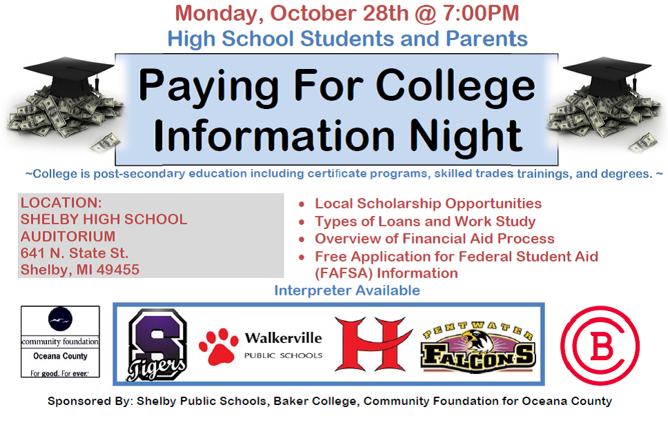 Paying for College Information Night